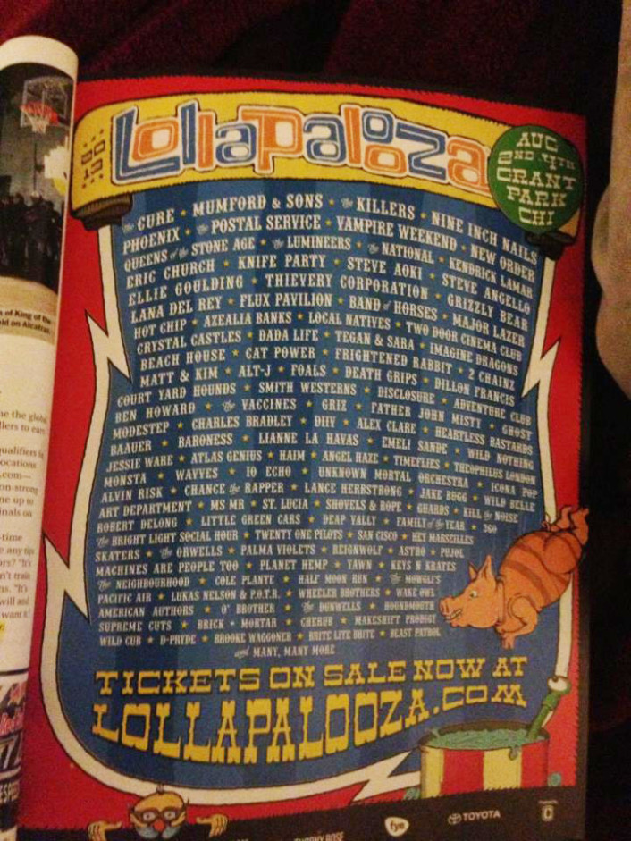 [CONFIRMED] Lollapalooza 2013 Lineup : Full Actual Lineup Leaked.. Massive List of Artists - Featured Image