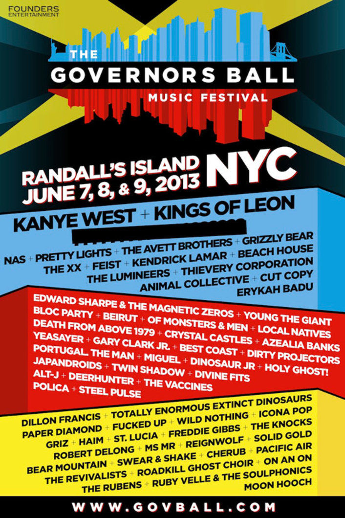 The Governors Ball NYC Music Festival 2013 Full Lineup : Impressive Lineup Including 50+ Acts on Randall's Island, New York - Featured Image