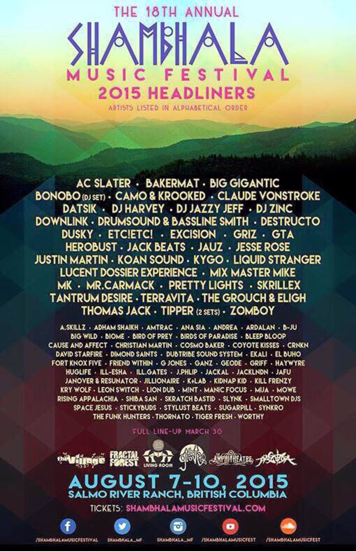 Shambhala Music Festival Announces Game Changing Lineup Featuring Skrillex, Pretty Lights, Kygo, Big Gigantic, GRiZ & More - Featured Image