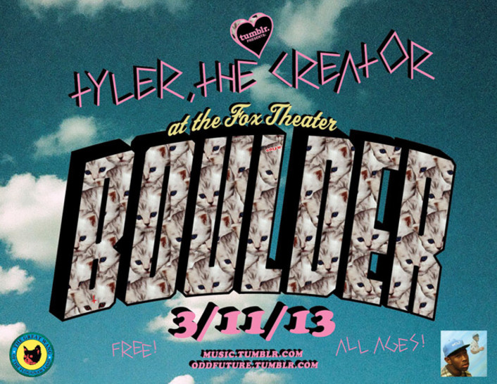 Tyler, The Creator of Odd Future to Play Free Show in Boulder at The Fox Theatre March 11th - Featured Image