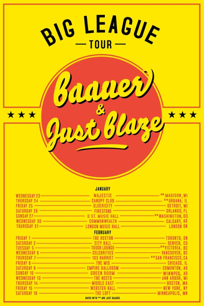 Just Blaze & Baauer Big League Nationwide Tour Ticket Giveaway [CONTEST] - Featured Image