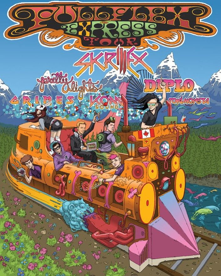 Skrillex, Diplo, Pretty Lights and Grimes to tour on the Full Flex Train Tour - Featured Image