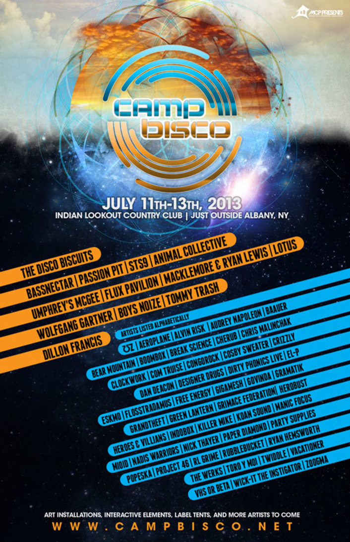 Camp Bisco Music Festival 2013 Full Lineup : Bassnectar, Flux Pavillion, Macklemore, STS9 & More - Featured Image