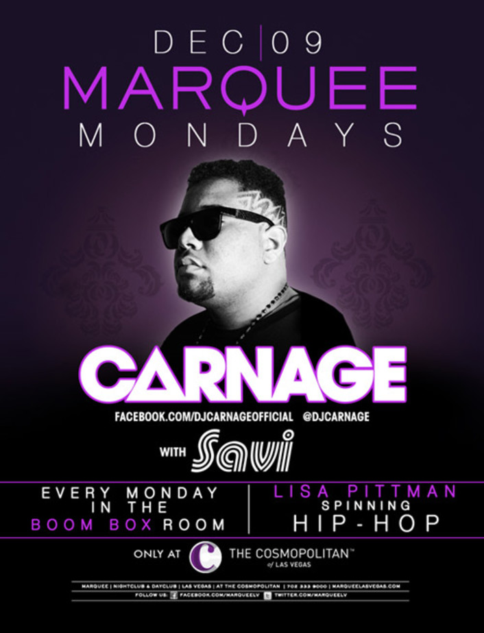Carnage and Marquee Las Vegas Want to Hook Up A 4 Person VIP Table and Bottle [GIVEAWAY] - Featured Image