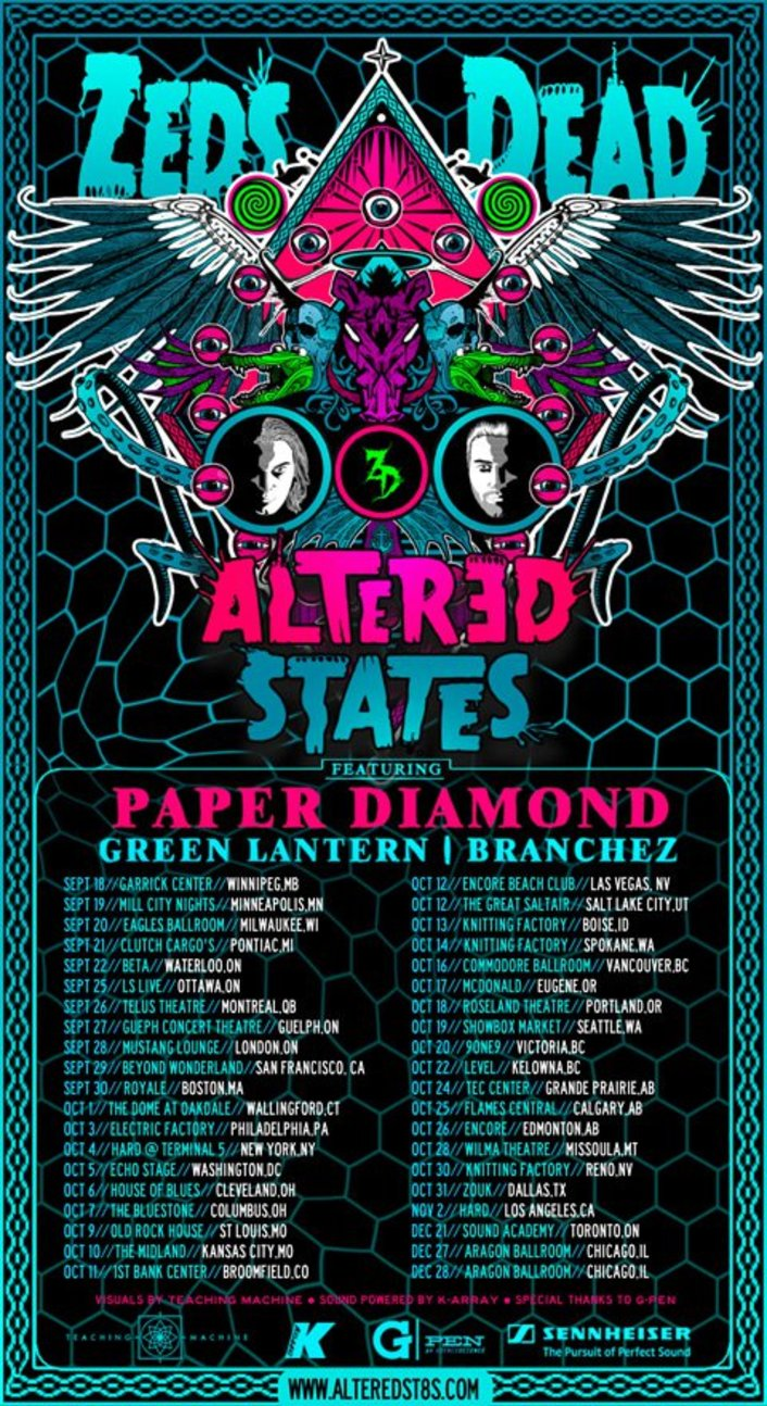 [PREMIERE] Zeds Dead release Altered States teaser video to kick off Tour - Featured Image