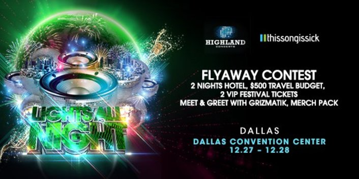 [GIVEAWAY] Win A Flyaway Experience to Lights All Night with 2 Night Hotel Stay and Meet & Greet with Grizmatik - Featured Image