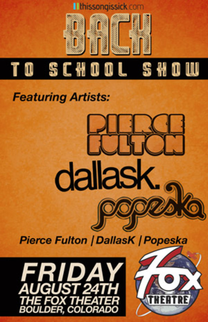 Thissongissick.com Presents Back to School Concerts August 24th and 25th in Denver at Beta Nightclub and The Fox Theatre - Featured Image