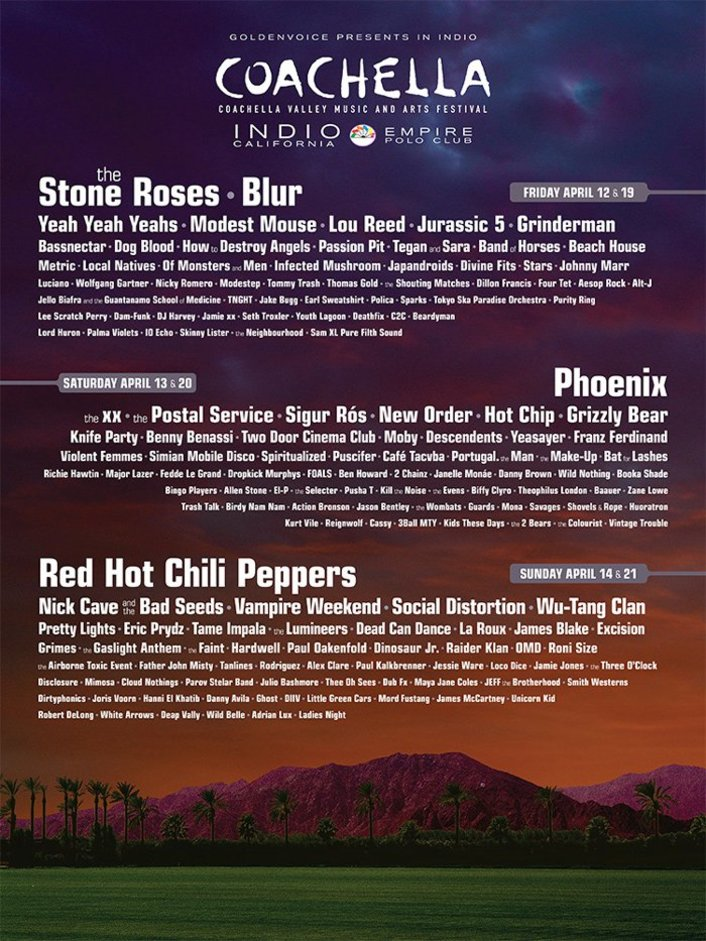 Coachella Music Music & Art Festival 2013 Full Lineup Announced + Ticket On Sale Date - Featured Image