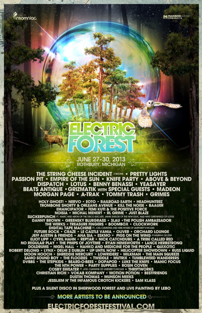 Electric Forest 2013 Lineup Phase 2 Including Grizmatik with Special Guests, Above & Beyond, Morgan Page, Eskmo and more! - Featured Image