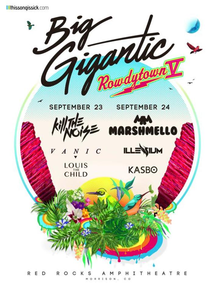 Big Gigantic & TSIS Present Rowdytown V Lineup Ft. Marshmello, Kill the Noise, Illenium, Vanic, And More! - Featured Image