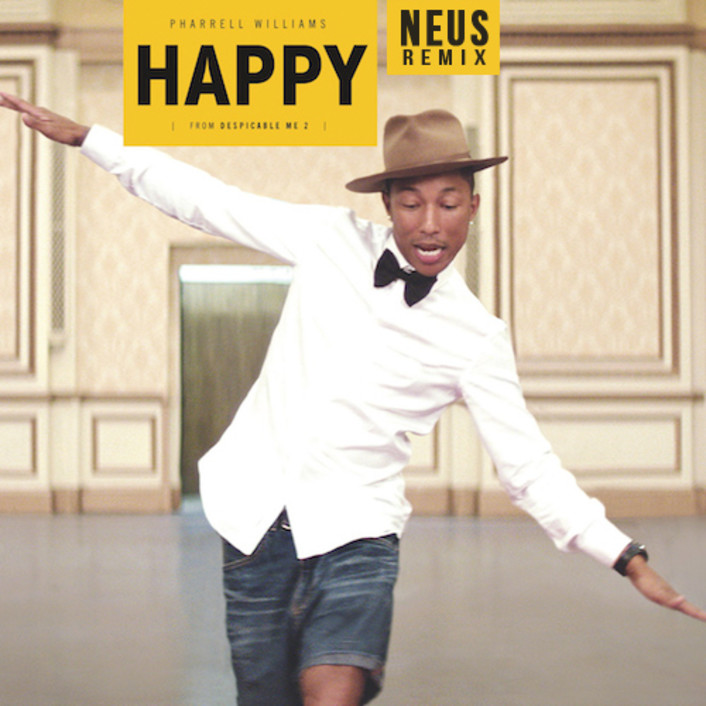 Pharrell Williams - Happy (NEUS Remix) : Must Hear Electro Funk Remix  - Featured Image