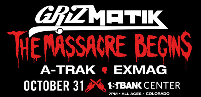 Grizmatik (aka Gramatik and GRiZ) are headlining 1st Bank Center for Halloween with special guest A-Trak: Early Bird Tickets and VIP Packages Available Now - Featured Image