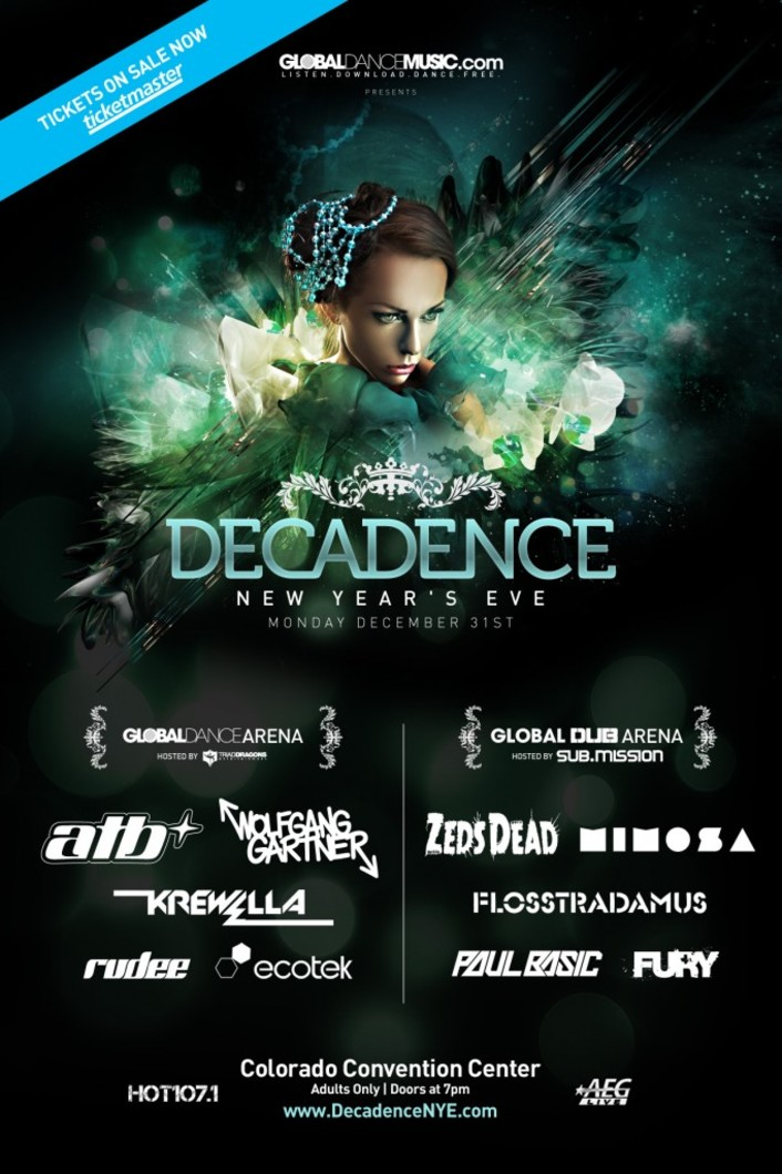 [GIVEAWAY] Decadence New Years Eve Event ft. Zeds Dead, Wolfgang Gartner, Krewella, Flosstradamus, ATB & More : Contest Giveaway - Featured Image
