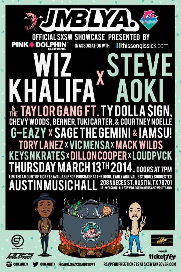 TSIS Throws Second Free SXSW Party 'JMBLYA' With Wiz Khalifa, Steve Aoki, G-Eazy and Many More - Featured Image