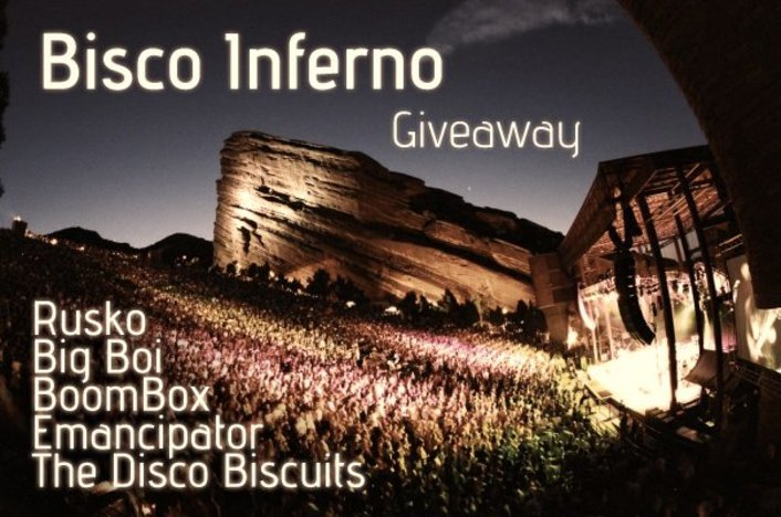 Bisco Inferno at Red Rocks Saturday May 28th - The Disco Biscuits, Rusko, Big Boi, BoomBox, Emancipator  : Ticket and VIP Giveaway and Songs! - Featured Image