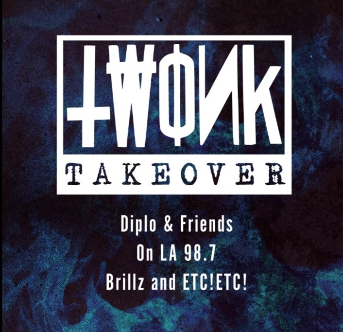 Diplo & Friends TWONK Takeover on 98.7FM By ETC!ETC! & Brillz : Trap / Hip-Hop / Dance Hour Long Mix [Free Download] - Featured Image
