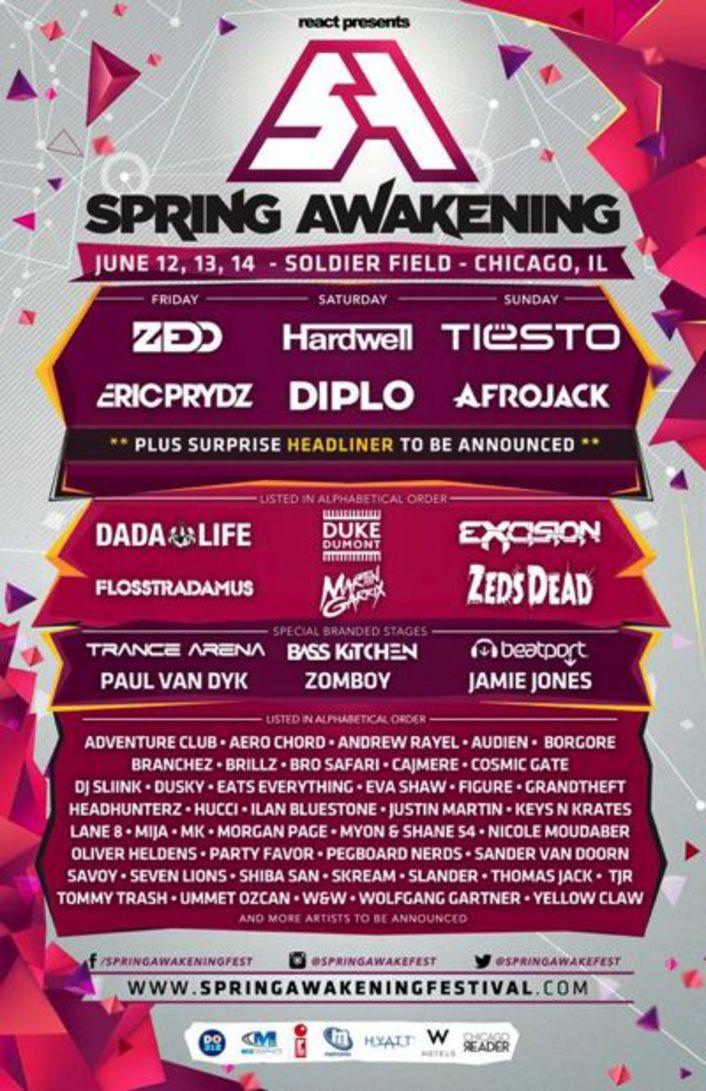 Spring Awakening Music Festival Announces Huge 2015 Lineup Ft. Zedd, Diplo, Hardwell, Eric Prydz, Zeds Dead, Flosstradamus, Duke Dumont, Jamie Jones and More - Featured Image