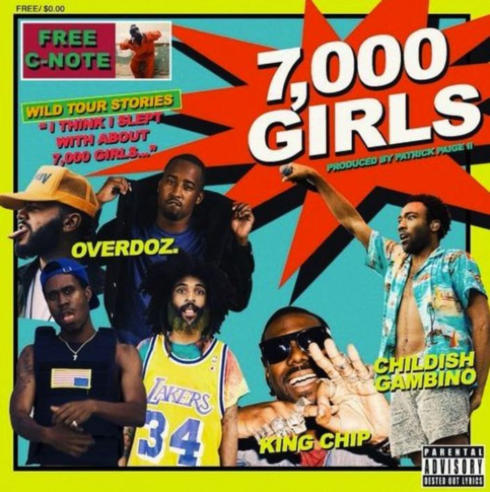 "Childish Gambino & King Chip Join OverDoz. On New Song ""7,000 Girls"" - Featured Image"