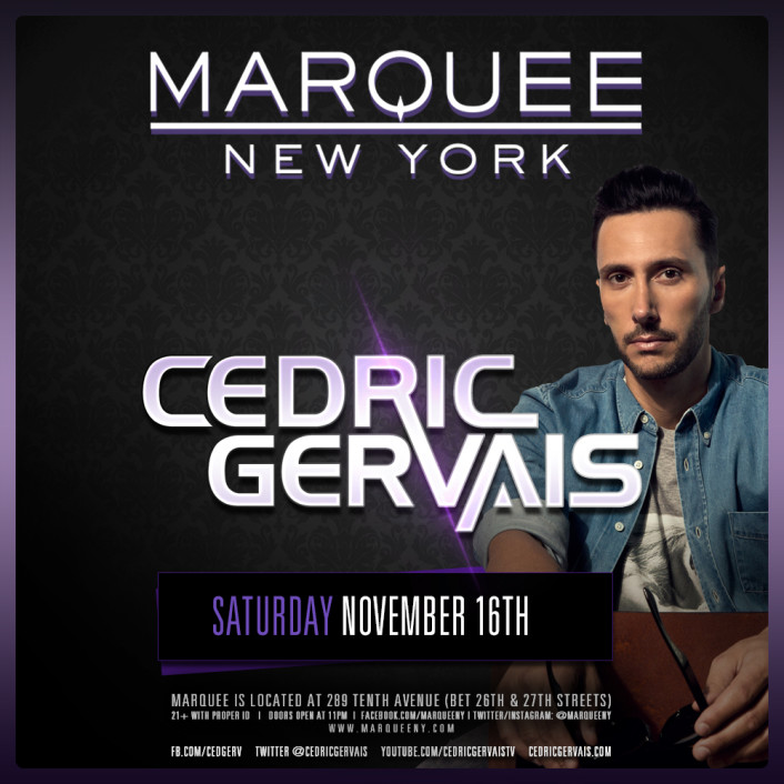 Win A 4 Person VIP Experience + Meet & Greet with Cedric Gervais at Marquee New York [GIVEAWAY]  - Featured Image