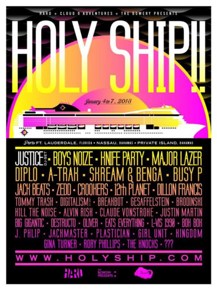 Holy Ship!! 2013 Lineup:  Over 40 DJ's on a 4 Day Cruise in Bahamas - Featured Image
