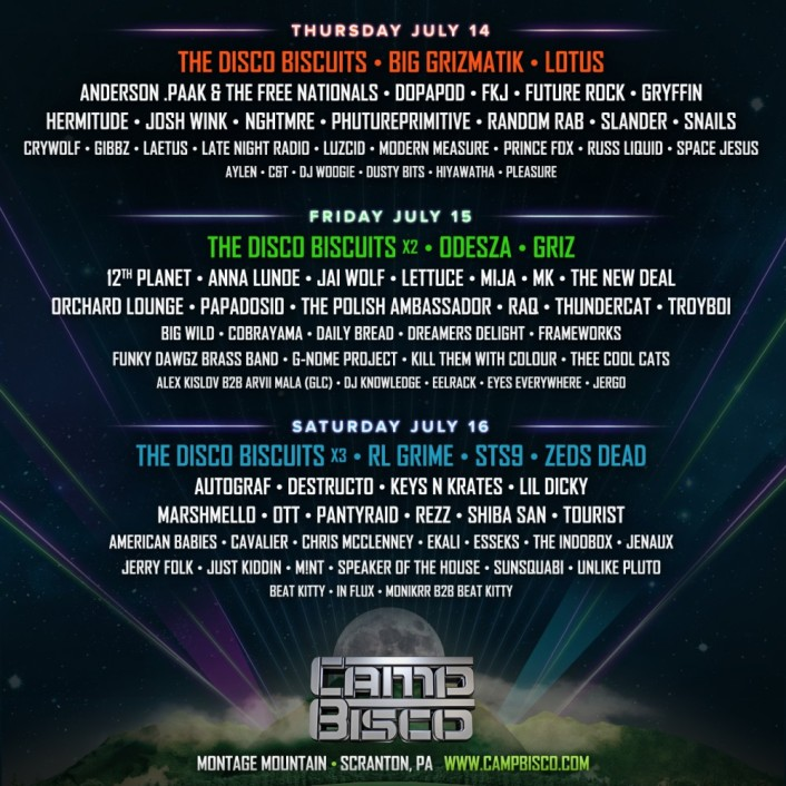 New Camp Bisco lineup