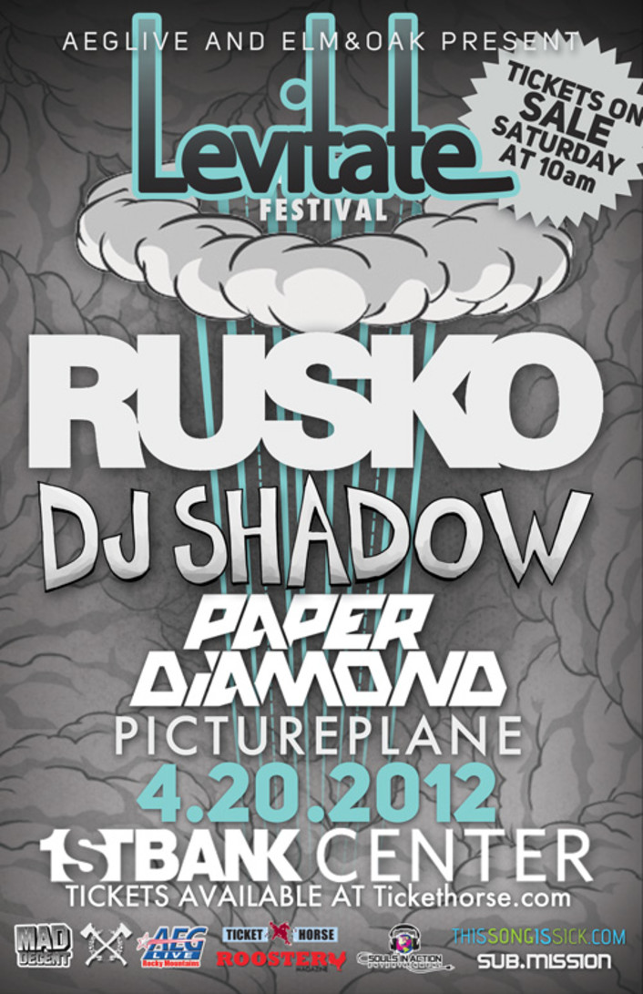 Levitate Festival - Rusko, Paper Diamond, Dj Shadow, Pictureplane at 1st Bank Center for 4/20 Announcement - Featured Image