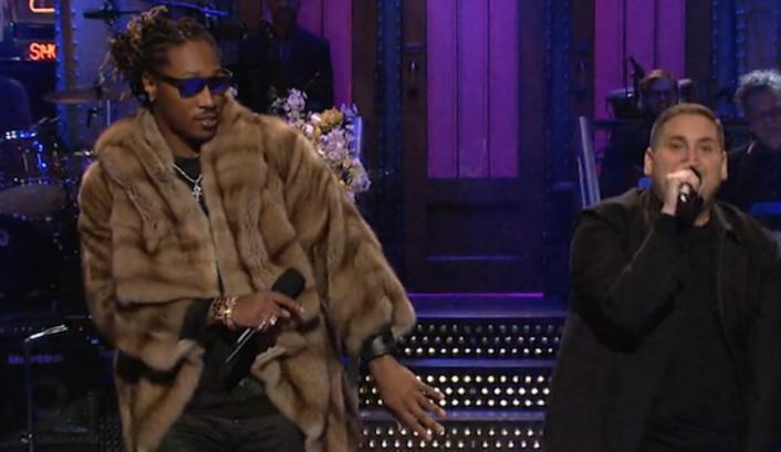 "Watch Jonah Hill & Future Rap ""Jumpman"" on Saturday Night Live - Featured Image"