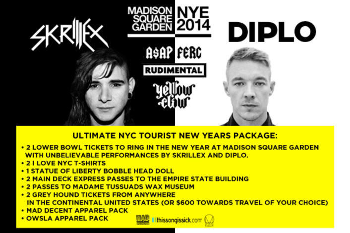Enter To Win The Ultimate New Years Prize Pack To NYC For Skrillex, Diplo, & Jack Ü At Madison Square Garden - Featured Image