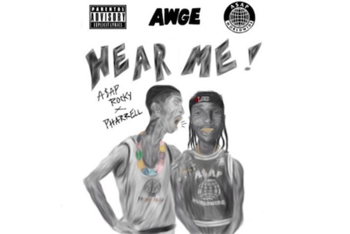 """A$AP Rocky And Pharrell Surprise With """"Hear Me"""" : Must Hear Hip-Hop Collaboration - Featured Image"""